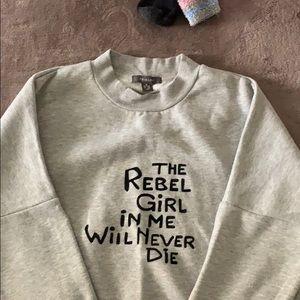 Comfy feminist grey sweatshirt